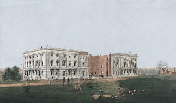 Capitolio quemado