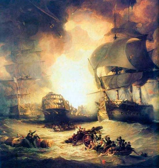 Explosión del navío L'Orient