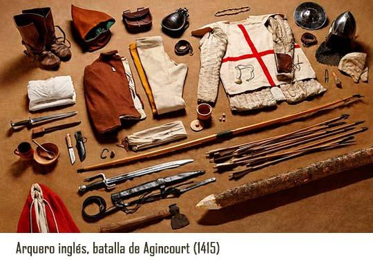 Vestimentas de batalla agincourt
