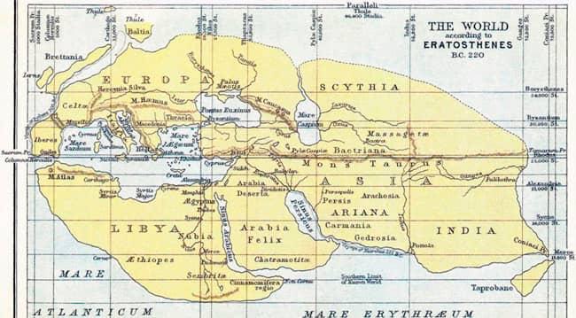 Mapa de Eratostenes