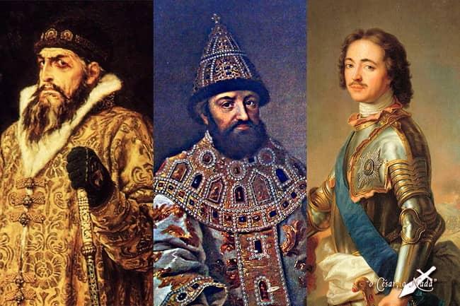 zar Ivan IV Miguel I Pedro I