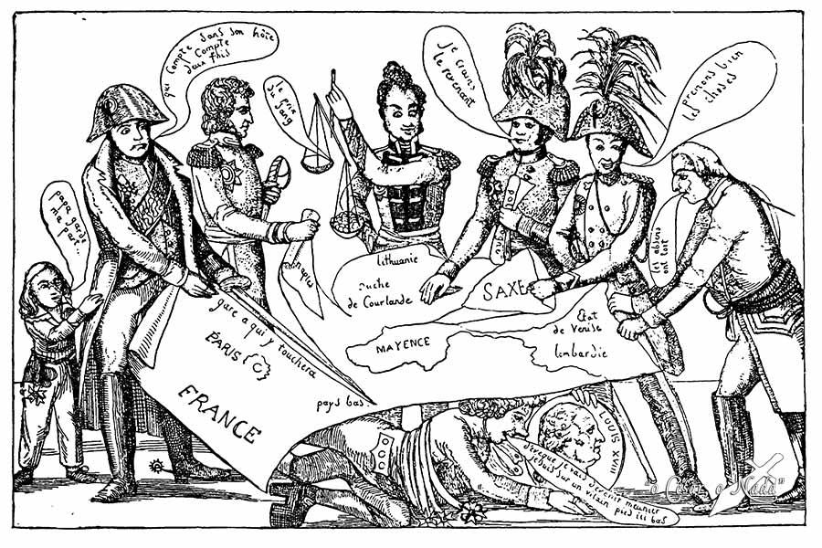 Caricatura Congreso de Viena