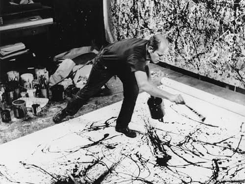 Jackson Pollock dripping