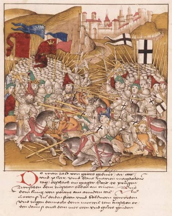 miniatura batalla de Grunwald