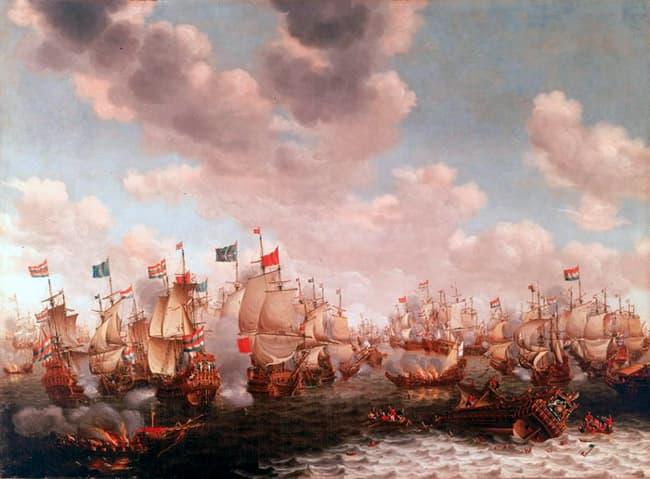 batalla de los Cuatro Dias Michiel de Ruyter